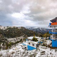 Zostel Mukteshwar in snow
