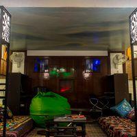 Reading area in Zostel Delhi's private room