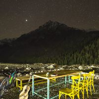 Star studded view from Zostel cafe at night