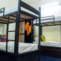 A 4 bed dorm in Delhi hostel