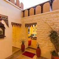 Wall decoration at Jaisalmer hostel