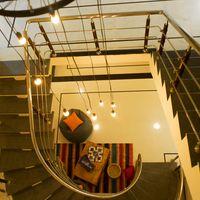 Hostel spiral staircase