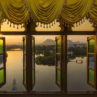 Lake view from udaipur hostel