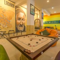 Leh Hostel common area