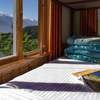 Hostel Manali Dorm with Snow capped mountain view
