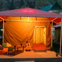 Zostel Chitkul swiss tent from outside