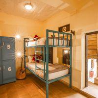 Comfortable bunk beds in Jaisalmer hostel dorm