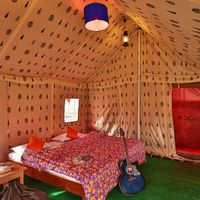 Swiss tent at hostel Spiti