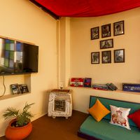 Common room of our Jaisalmer hostel