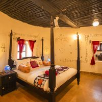 Hut inspired private room in Jaisalmer Zostel