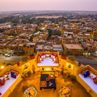 City view from Zostel Jaisalmer