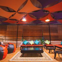 Enjoy your late night talks at  Hostel Mysore's rooftop