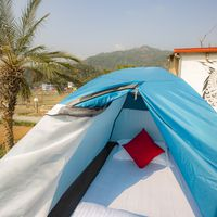 Camping site in Zostel pokhara