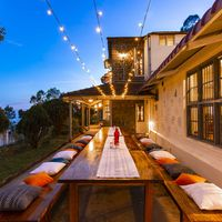 Outdoor dining area at Zostel Kodaikanal