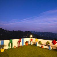 Mountain view terrace of Zostel Mukteshwar