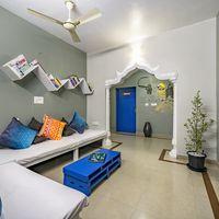 Ernakulam Hostel Tv room