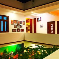 Lobby area in hostel