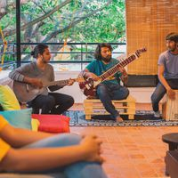 live jamming session on rooftop