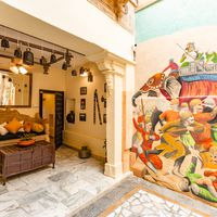 Cool wallart in Jaisalmer Zostel