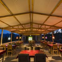 Leh Hostel cafe  at evening time