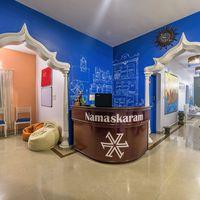 Ernakulam Hostel Reception area.