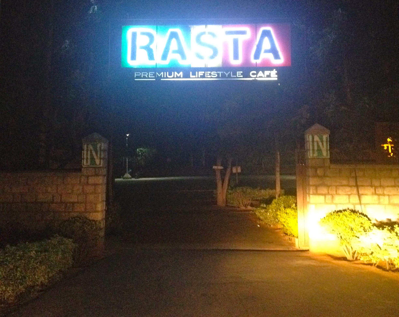 Entering into the Rasta Cafe