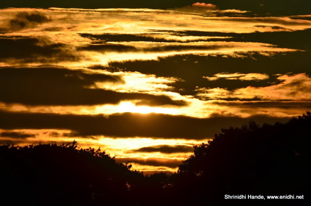 closeup of sky-sunrise at Hebbal lake