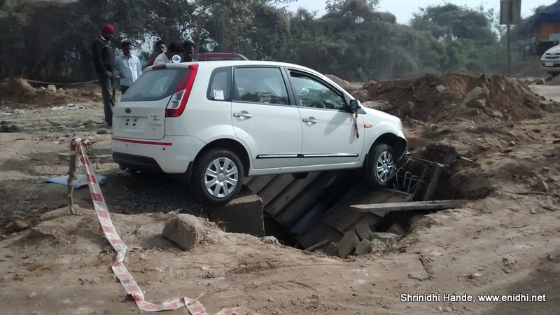 ford figo accident side view