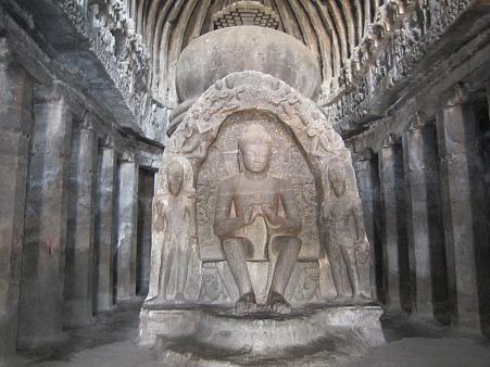 Ellora-Buddha-sculpture