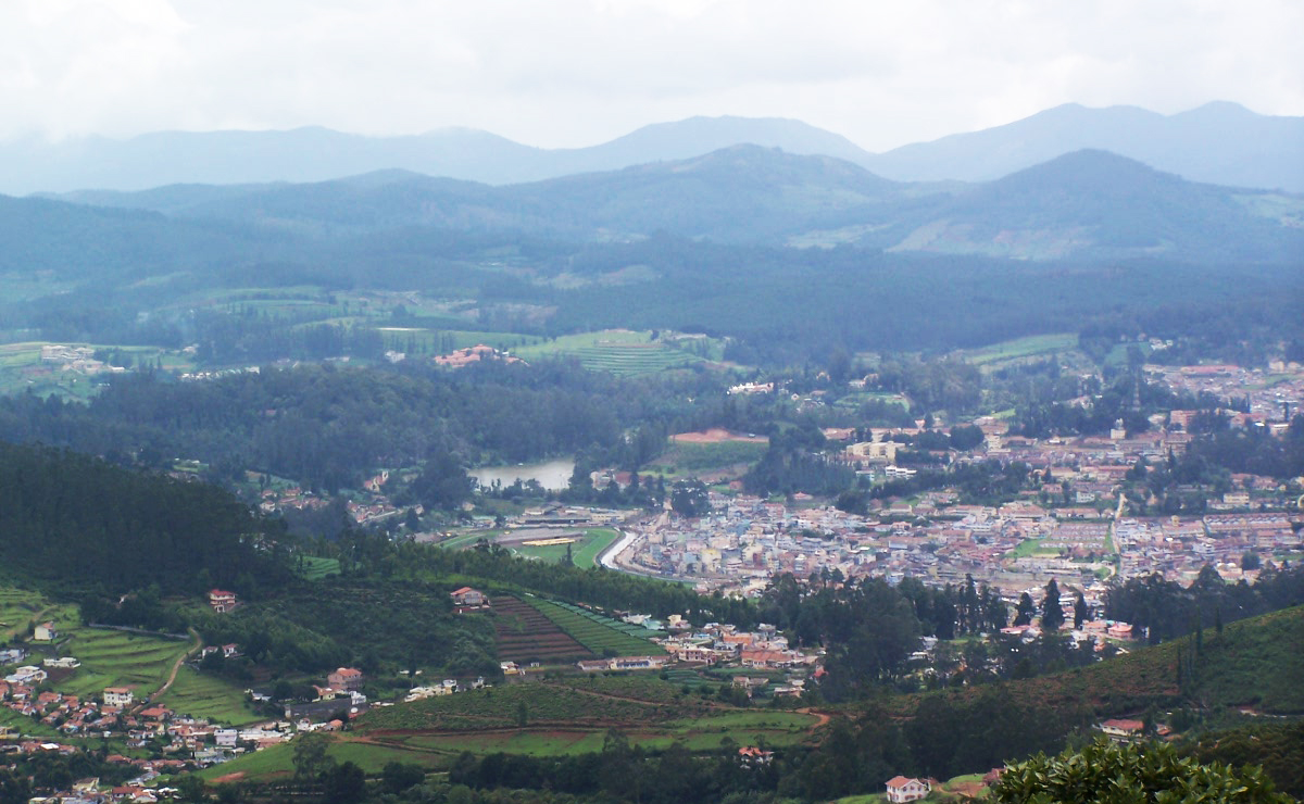 a view from the top of the doddabetta hill