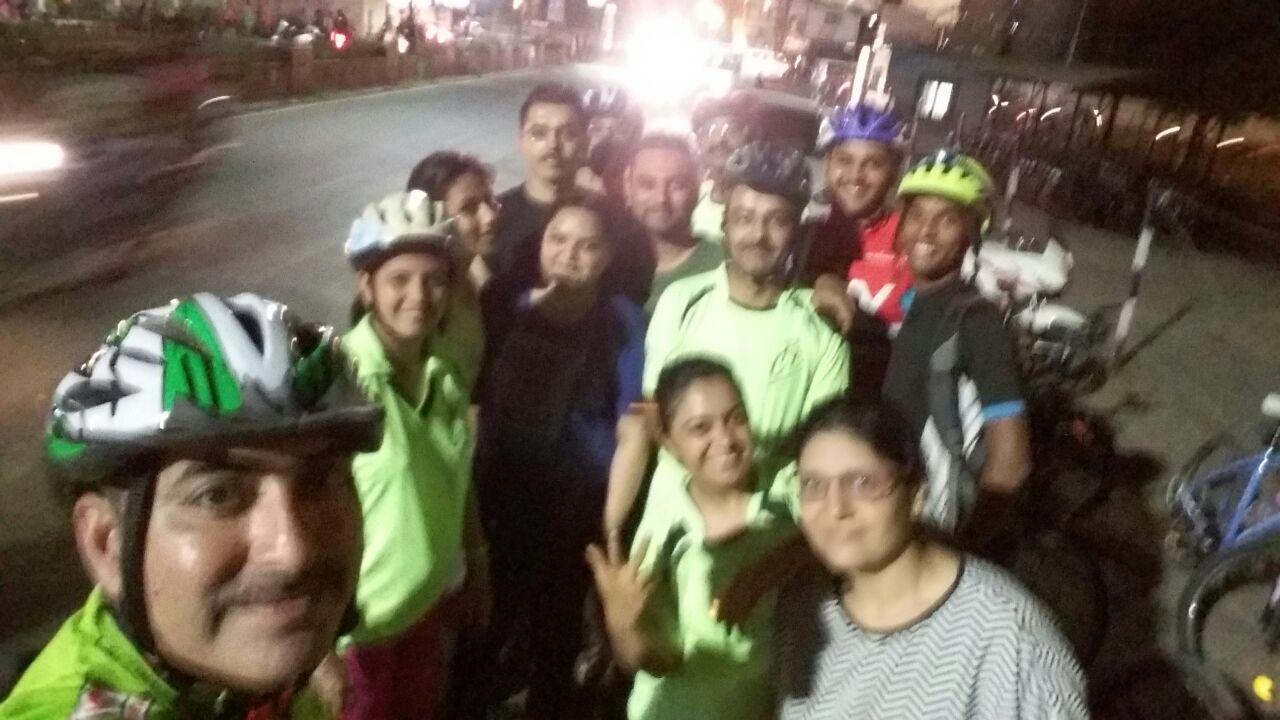 A fun night ride with Rajkot Riders